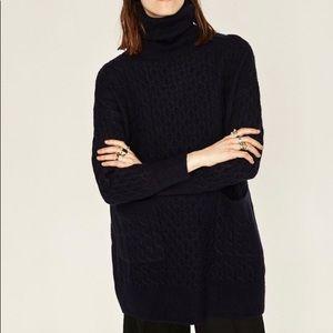 Zara knit cable knit oversized sweater dress